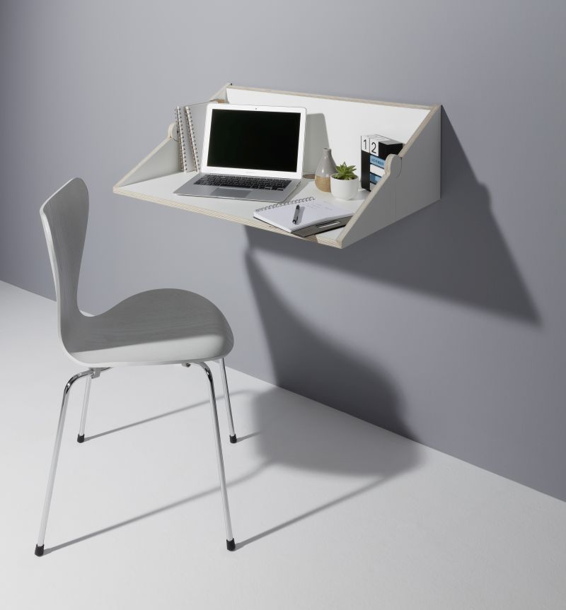 Michael Hilgers Twofold Wall Shelf Transforms Into A Work