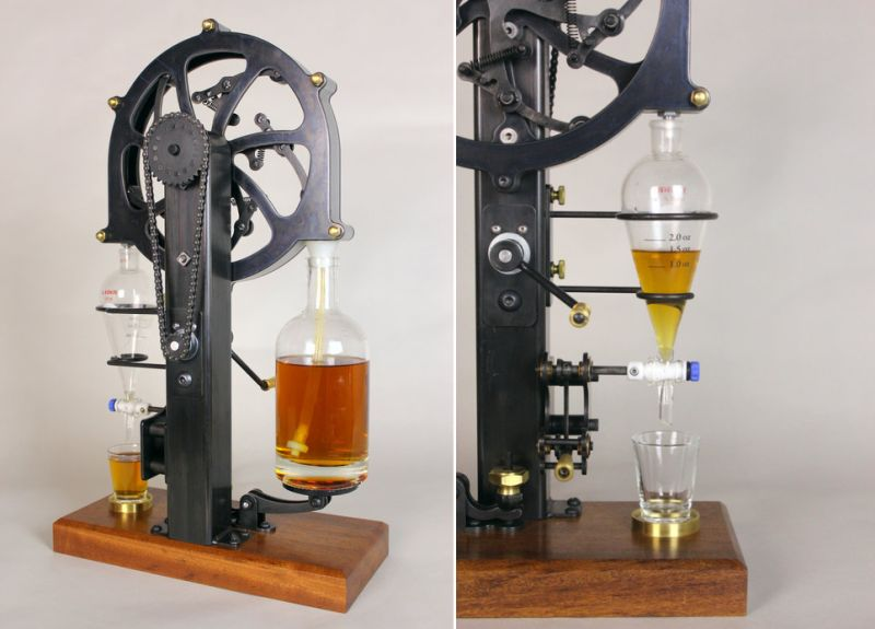 Benjamin Cowden designs a perfect shot-pouring machine