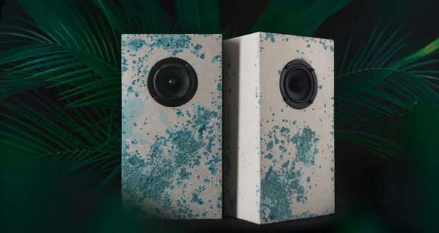 Brutalist-Lab introduces colored concrete speakers