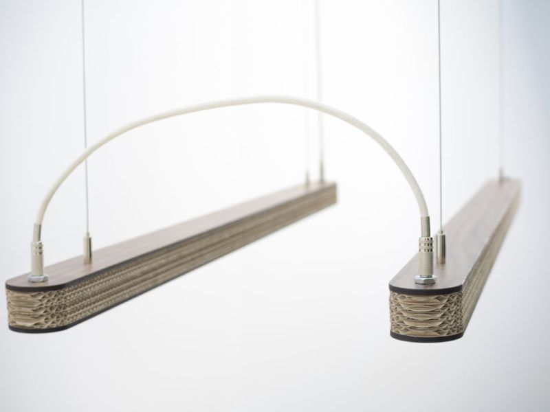 Cartoni 900- Eco-friendly cardboard lamp design by Wisse Trooster