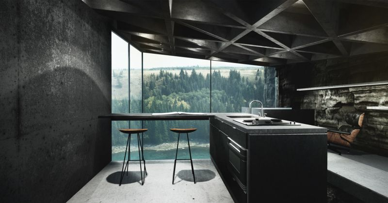 Casa brutale designer throws back another mind blowing cliff house - Mindblowing interior design for luxury homes ...