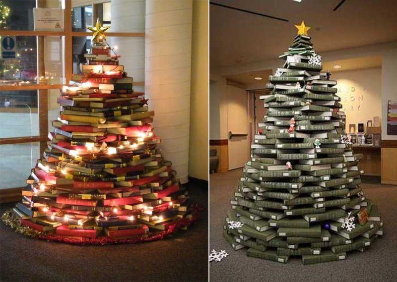 Christmas tree alternative book tree-5