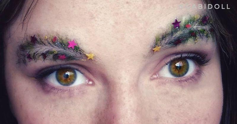 Christmas tree eyebrow