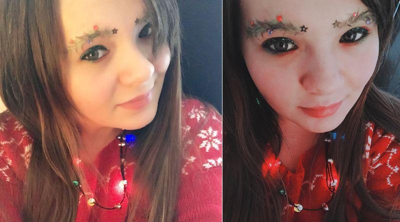 Christmas tree eyebrows