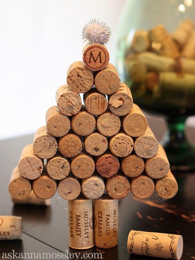 DIY wine Cork tabletop Christmas Tree