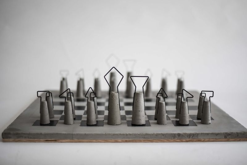 Daniel Skoták's Fortify concrete chess set is ideal for minimalists
