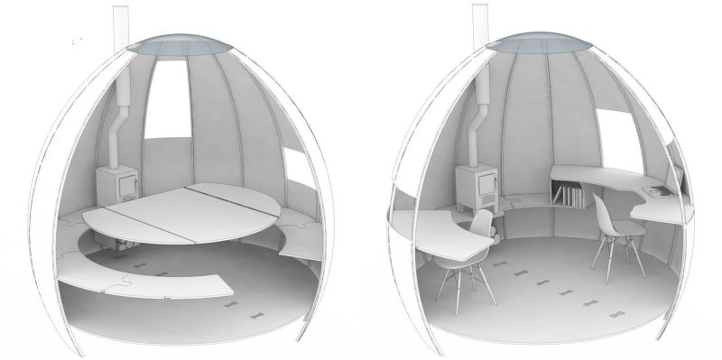 Domed garden pod by Podmakers lets you work, meditate or sleep