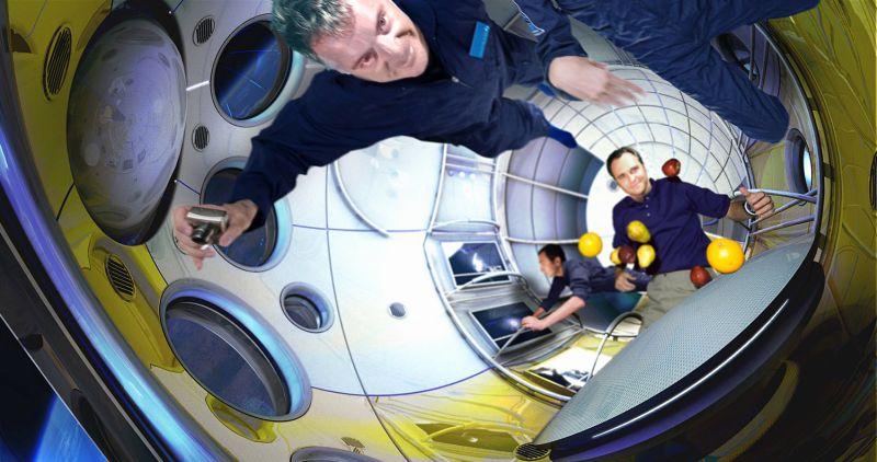 Galactic Suite space resort by Xavier Claramunt