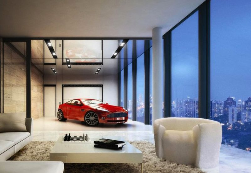 Sleeping Right Next To Your Supercar Inspiring Homes With