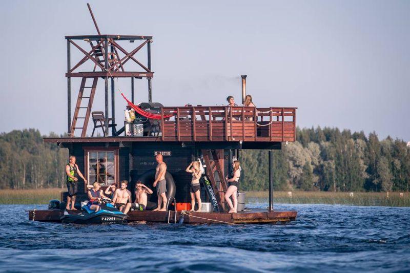 Saunalautta Homemade multi-deck sauna-1