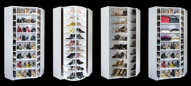 Lazy Lee's 360 Organizer revolving shoe closet to steal your apartment