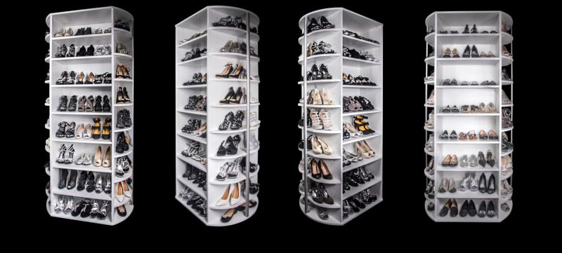 Lazy Lee S 360 Organizer Revolving Shoe Closet To Steal Your Apartment