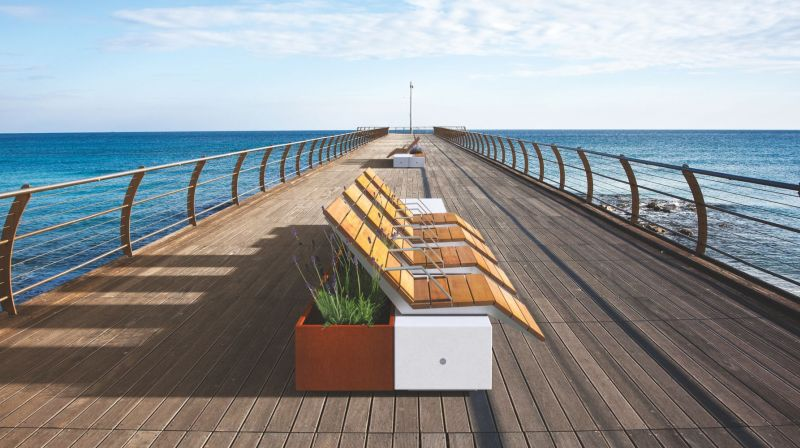 Metalco's Alterego modular urban furniture creates perfect urban environment