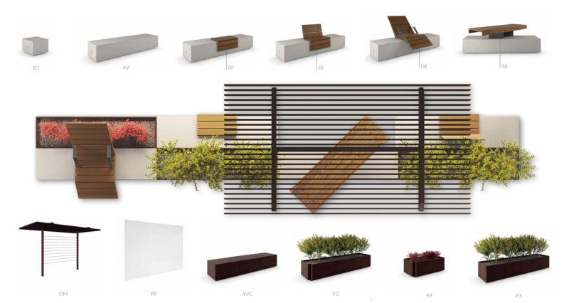 Metalco S Alterego Modular Urban Furniture Creates Perfect Environment