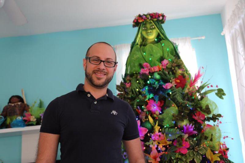 Moana-inspired Christmas tree