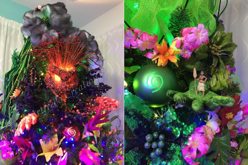 Moana Inspired Centerpiece, Moana party decorations, Moana ... |Moana Themed Christmas Tree