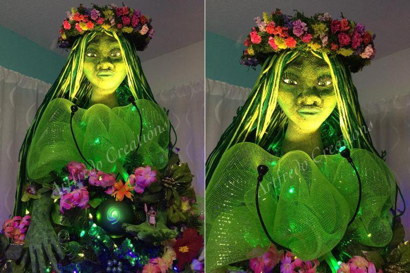 Moana-inspired Christmas tree-6