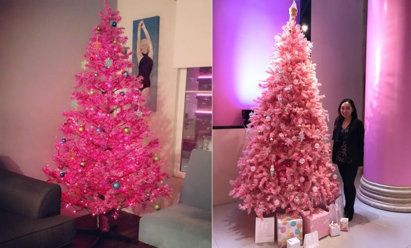 Pink Christmas Trees.Pink Christmas Trees Are All The Rage And We Are Big Fans