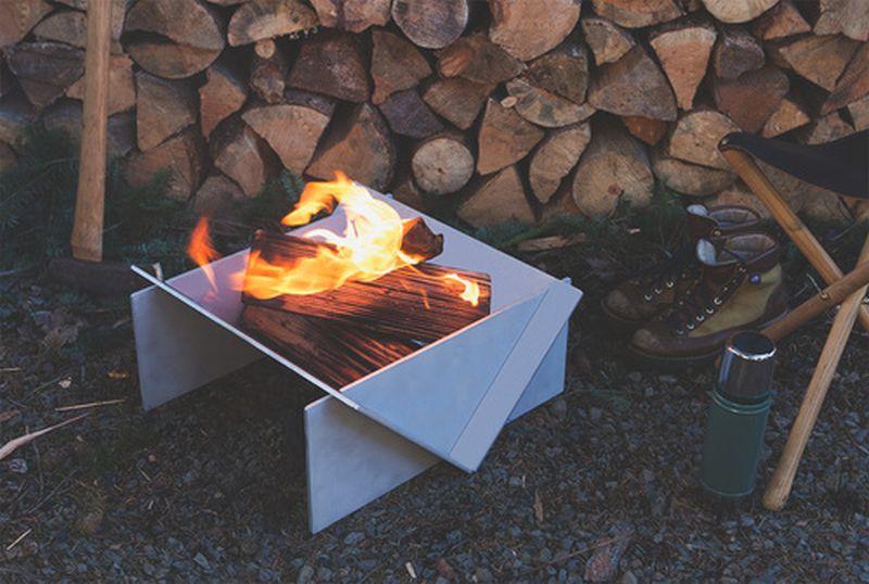 Stahl firepit-