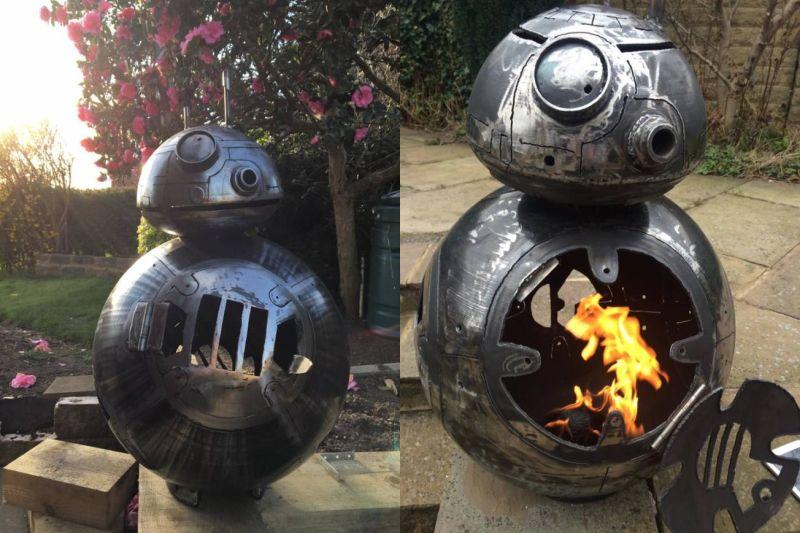 Star Wars BB-8 fire pit