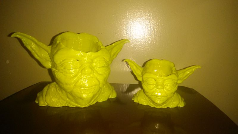 Star Wars Yoda 3D-printed succulent planter