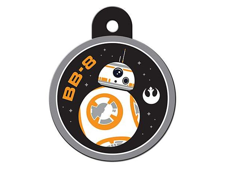 Star Wars-themed BB-8 pet tag