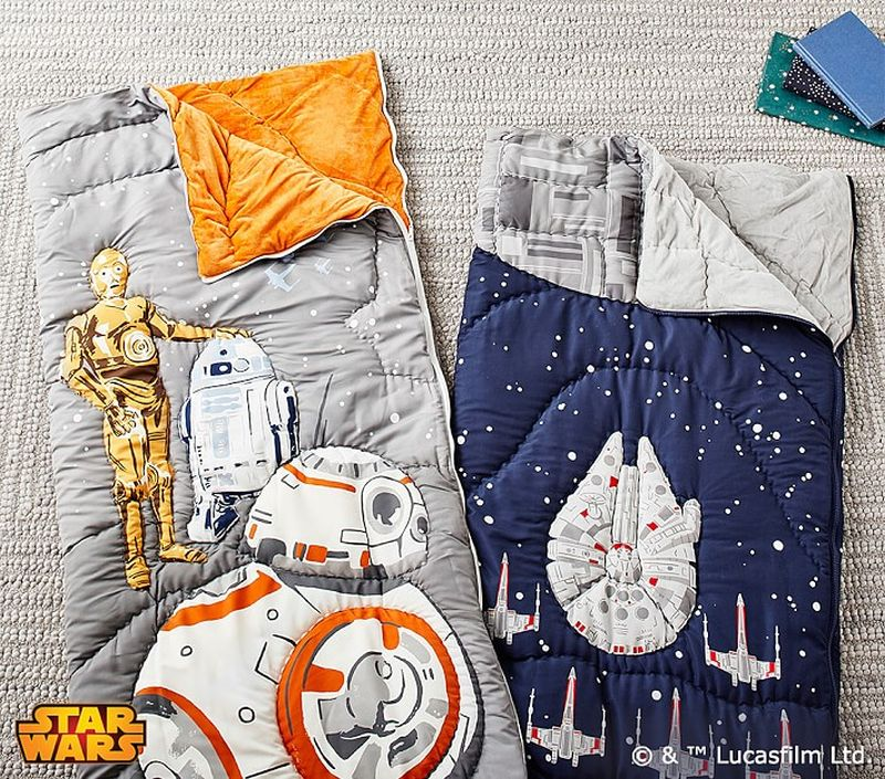 Star Wars-themed sleeping bags