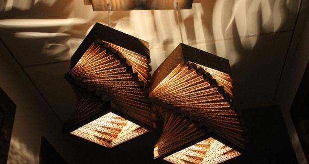Sylvn Studio's cardboard lamps offer patterned illumination