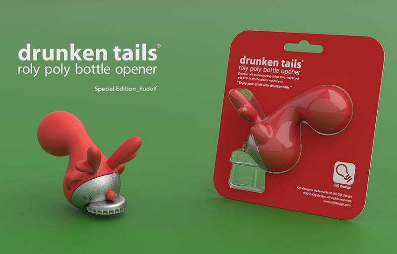 Tail bottle opener