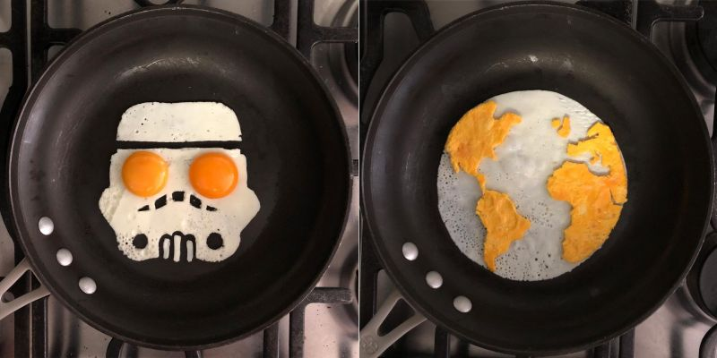 fried egg arts by Michele Baldini