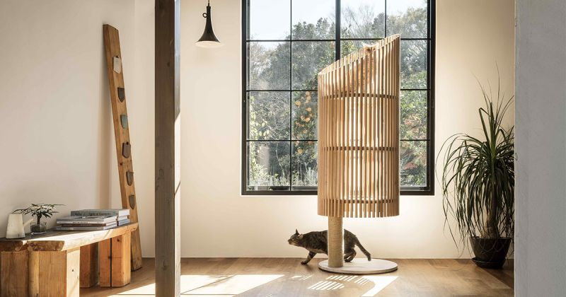 sculptural Neko cat tree-1
