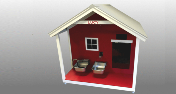 Bright Canine custom smart doghouse