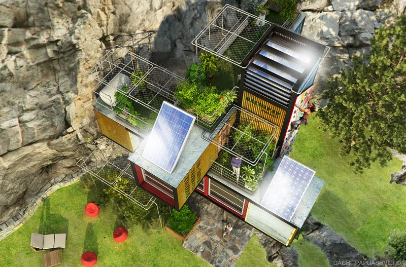 Dachi's Gavleti Camp Lodge Concept is a Relief for Climbers on Dragonfly Cliffs