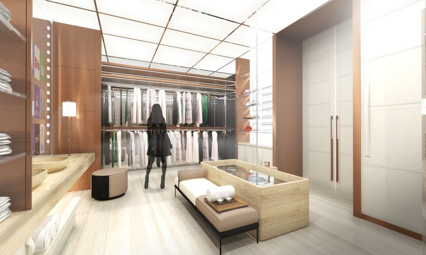 High-tech rotating wardrobe - A Gamut of Technology and Offbeat Living
