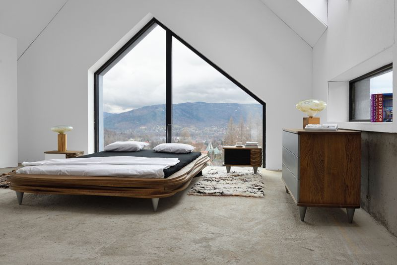 "GieEL Unveils ""ORGANIQUE"" Layered Wooden Bed at IMM Cologne 2018"