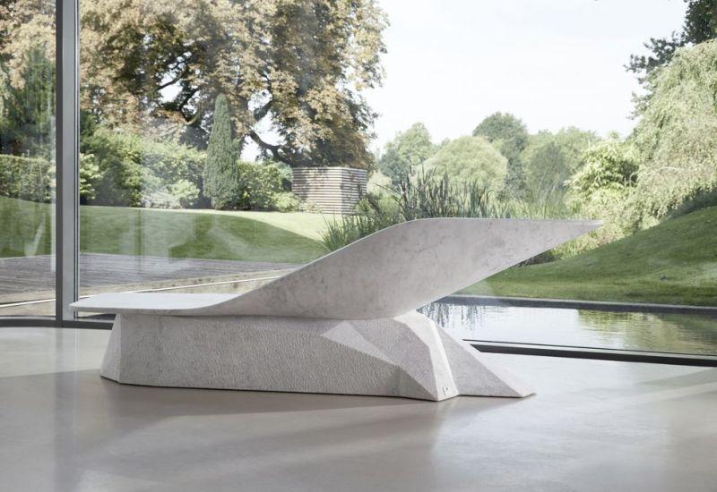 Hedi Teherani Celebrates 5o years of Draenert with Marble Wing Chaise Lounge