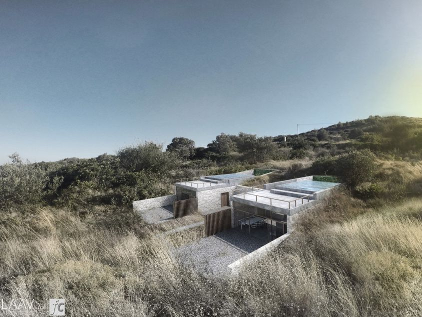 LAAV Architects designs stunning eco-resort featuring swimming pool ceilings