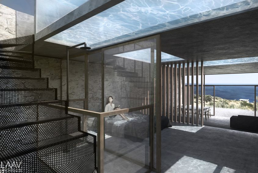 Laav Architects 39 Summerhouse Features See Through Swimming Pool Ceiling