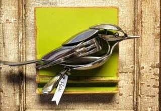 Matt Wilson turns old cutlery into unique metal sculptures