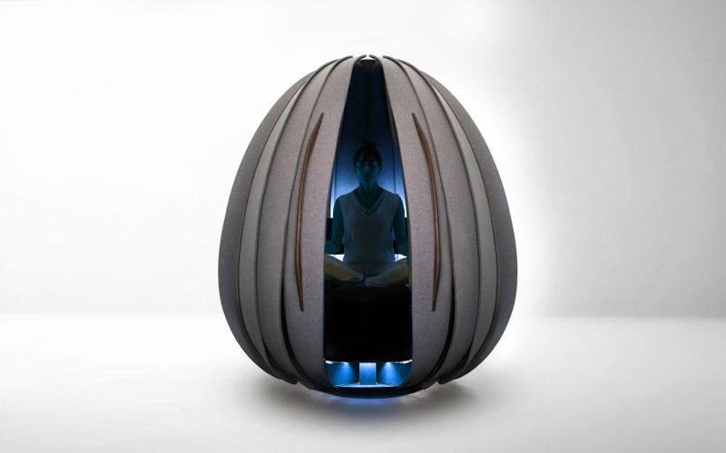 Open Vessel meditation pod for healthy workplaces