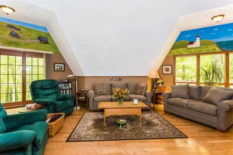 This Milford home with geodesic dome is energy-efficient and perfect!