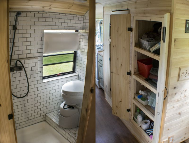 Converted School Bus Home With Rooftop Deck Is Perfect For