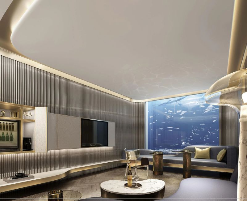 Underwater hotel Rooms at Shimao Wonderland Intercontinental Hotel