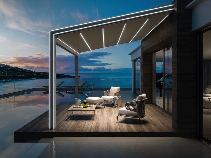 Robby Cantarutti's Gennius Vega retractable pergola for KE Outdoor Design