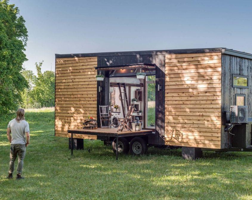 Alpha tiny home on wheels
