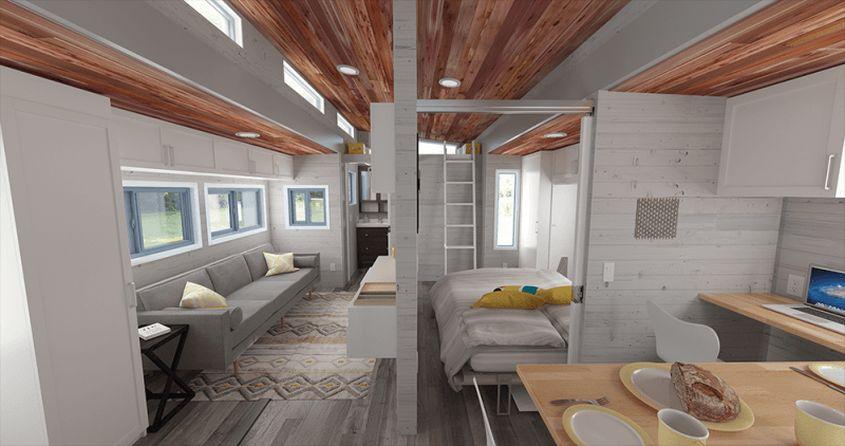 Aurora tiny house on wheels