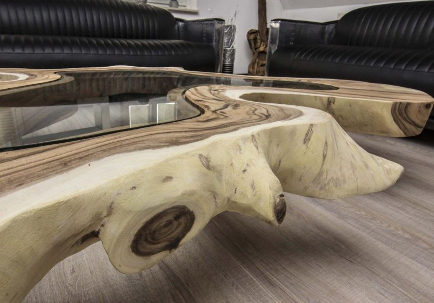 Clash live edge coffee table by Gerken