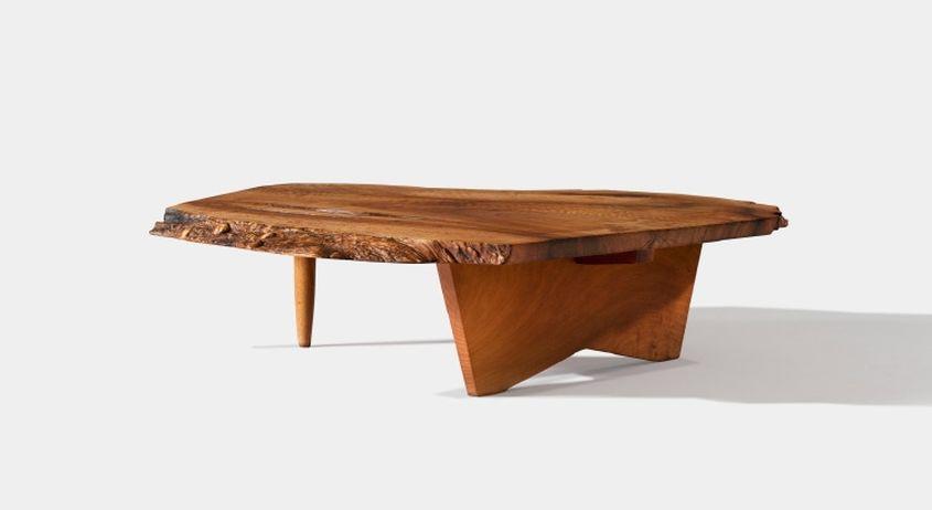 Conoid live edge coffee table