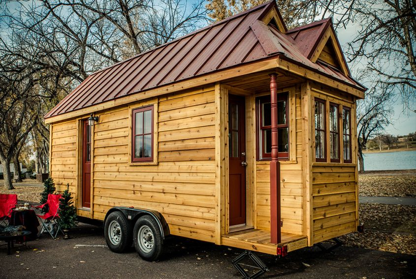 Cypress tiny house on wheels
