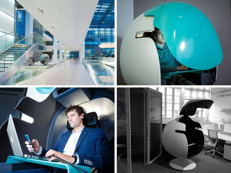 E Bulle Office Pod By Leet Design To Escape The Worker Grind